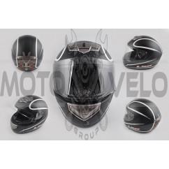Шлем-интеграл (mod:368) (size:L, черный матовый, HIGHWAY) LS-2