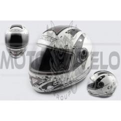 Шлем-интеграл (mod:550) (premium class) (size:L, черный) Ш117 KOJI