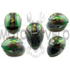 Шлем-интеграл (mod:OP02) (size:M, зеленый) HONZ