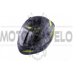 Шлем-интеграл (mod:FF352) (size:XXL, черно-зеленый, BANG) LS-2
