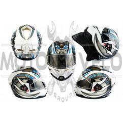 Шлем-интеграл (mod:G346) (size:L, бело-синий) GSB