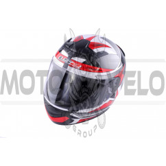 Шлем-интеграл (mod:FF352) (size:XXL, черно-красный, ROOKIE GAMMA) LS-2