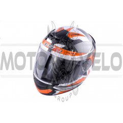 Шлем-интеграл (mod:FF352) (size:XXL, черно-оранжевый, ROOKIE GAMMA) LS-2