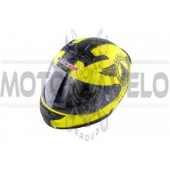 Шлем-интеграл (mod:FF352) (size:XXL, лимонный, FAN) LS-2