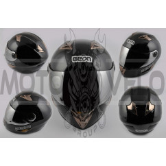 Шлем-интеграл   (mod:B-500) (size:M, черный)   BEON, шт