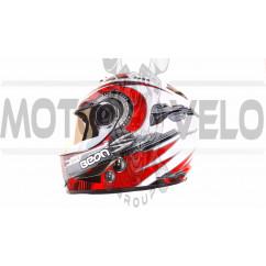 Шлем-интеграл   (mod:B-500) (size:XL, черно-серо-белый)   BEON, шт