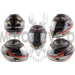 Шлем-интеграл   (mod:B-500) (size:M, черно-серо-красный)   BEON, шт