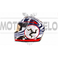 Шлем-интеграл   (mod:B-500) (size:M, черно-красно-белый)   BEON, шт