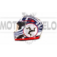 Шлем-интеграл   (mod:B-500) (size:L, черно-красно-белый)   BEON, шт