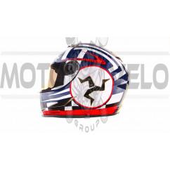 Шлем-интеграл   (mod:B-500) (size:XL, черно-красно-белый)   BEON, шт
