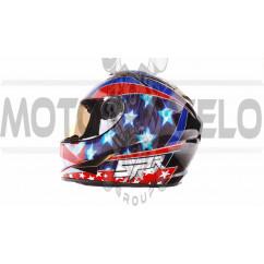 Шлем-интеграл   (mod:B-500) (size:XL, черно-красно-синий)   BEON, шт