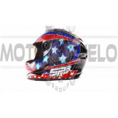 Шлем-интеграл   (mod:B-500) (size:L, черно-красно-синий)   BEON, шт