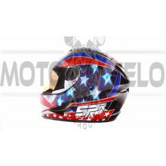 Шлем-интеграл   (mod:B-500) (size:M, черно-красно-синий)   BEON, шт