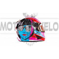 Шлем-интеграл   (mod:B-500) (size:L, бело-розово-голубой)   BEON, шт