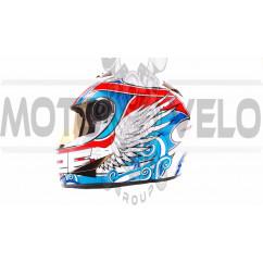 Шлем-интеграл   (mod:B-500) (size:XL, бело-красно-синий)   BEON, шт