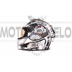 Шлем-интеграл   (mod:B-500) (size:L, черно-белый)   BEON, шт