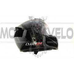 Шлем-интеграл   (mod:FF352) (size:L, черный, ROOKIE FLUO)   LS-2