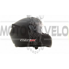 Шлем-интеграл   (mod:FF352) (size:XL, черный, ROOKIE FLUO)   LS-2