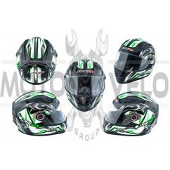 Шлем-интеграл   (mod:358) (size:XXL, черно-зеленый, BLADE)   LS-2, шт
