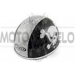 Шлем-каска (mod:Skull) (size:L, черно-белый) TVD