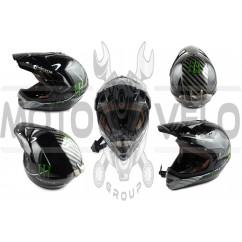 Шлем кроссовый (size:XL, глянцевый) MONSTER ENERGY