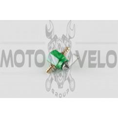 Кран топливный (стайлинговый)   универсальный   (зеленый)   RIDE IT