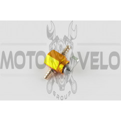 Кран топливный (стайлинговый)   универсальный   (желтый)   RIDE IT