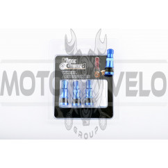 Ниппель колеса (стайлинговый, прямой) (синий) (#0001) MAX GUARD
