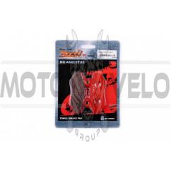 Колодки тормозные (диск) Zongshen RACE (красные) YONGLI