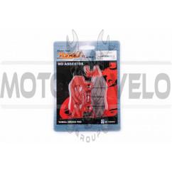 Колодки тормозные (диск) Zongshen STORM (задние, красные) YONGLI