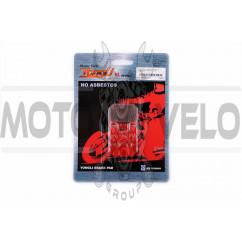 Колодки тормозные (диск) Peugeot, Italjet, CPI (красные) YONGLI