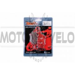 Колодки тормозные (диск) Yamaha JOG SA16 (красные) YONGLI