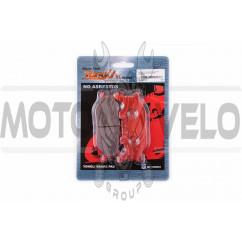 Колодки тормозные (диск) Yamaha MAJESTY 250 (красные) YONGLI