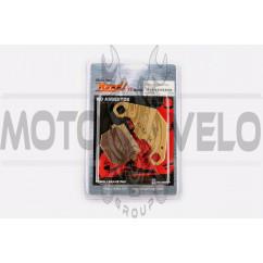 Колодки тормозные (диск) Suzuki AD50 (желтые) YONGLI PRO