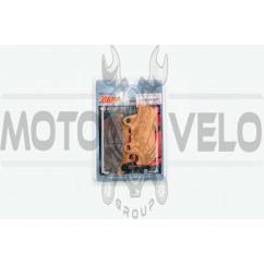 Колодки тормозные (диск) Honda CB125 (желтые) YONGLI PRO