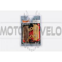 Колодки тормозные (диск) Honda CBR250F/500F (желтые) YONGLI PRO