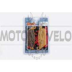 Колодки тормозные (диск) Honda CM125 (желтые) YONGLI PRO