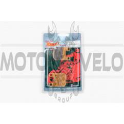 Колодки тормозные (диск) Peugeot, Italjet, CPI (желтые) YONGLI PRO