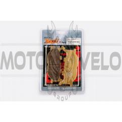 Колодки тормозные (диск) Yamaha MAJESTY 250 (желтые) YONGLI PRO