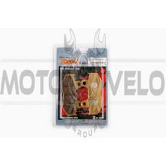 Колодки тормозные (диск) Honda LEAD AF48 (желтые) YONGLI PRO