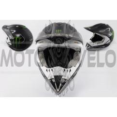 Шлем кроссовый (size:XL, матовый) MONSTER ENERGY