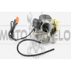 Карбюратор 4Т GY6 152QMI,157QMJ (200/250cc) (с ускорительным насосом) KOMATCU
