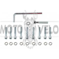 Болты крышки вариатора Yamaha JOG (шестигранный шлиц, 10шт +ключ) SHUK