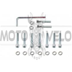 Болты крышки вариатора 4T GY6 150 (10 колесо) (шестигранный шлиц, 9шт +ключ) SHUK
