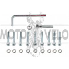 Болты крышки вариатора 4T GY6 150 (13 колесо) (шестигранный шлиц, 10шт +ключ) SHUK
