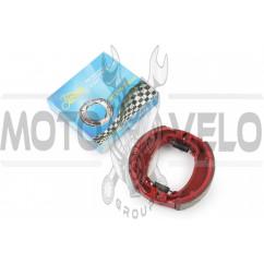 Колодки тормозные (барабан) 4T GY6 50-150 (10/12 колесо) (красные) KOMATCU