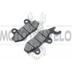 Колодки тормозные (диск) 4T GY6 50-150 (ухо влево) SUNY