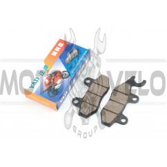 Колодки тормозные (диск) 4T GY6 50-150 (ухо влево) YAD
