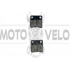Колодки тормозные (диск) Honda DIO, TACT (желтые) ZUNA
