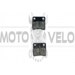Колодки тормозные (диск) Honda DIO, TACT (желтые) MANLE